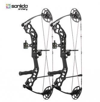 SANLIDA EMPEROR ROTATING MOD / 40-60LBS / 24″-30″ / RH / BLACK COMPOUND BOW PACKAGE